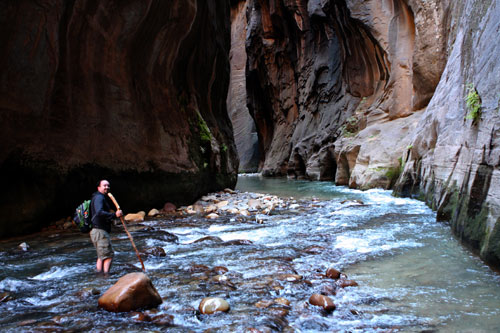 Jared in the narrows.