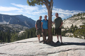 The three of us at Olmstead Point in Yosemite Park.