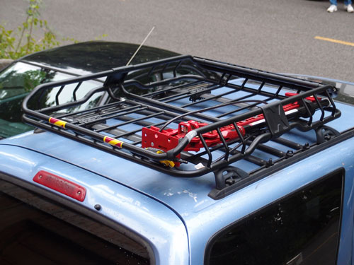 Our roof rack and hi-lift jack.