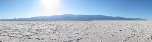 A panorama of Badwater Basin.