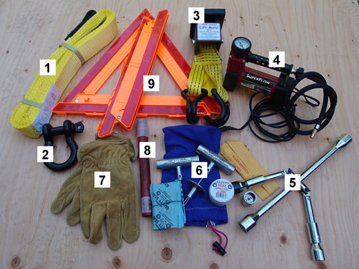 Side pocket tools and spares 1.
