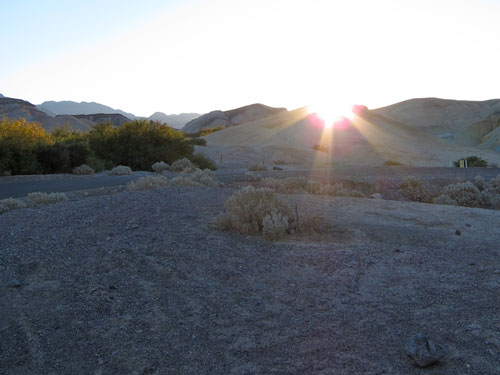 Sunrise in Death Valley.