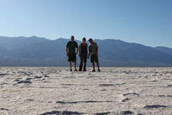 Us at 282 feet below sea level in Death Valley.