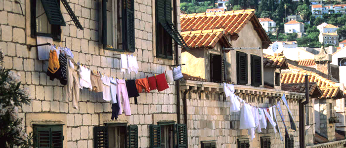 Laundry to dry in Dubrovnik Croatia